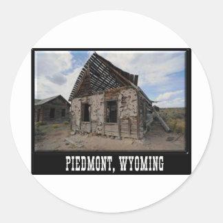 Piedmont Ghost Town Classic Round Sticker