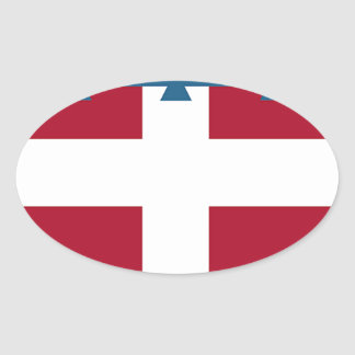 Piedmont (Italy) Flag Oval Sticker