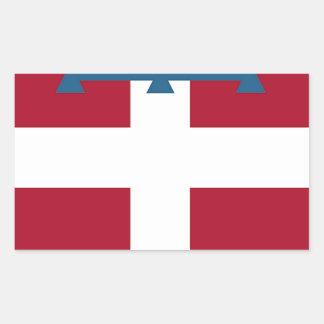 Piedmont (Italy) Flag Rectangular Sticker