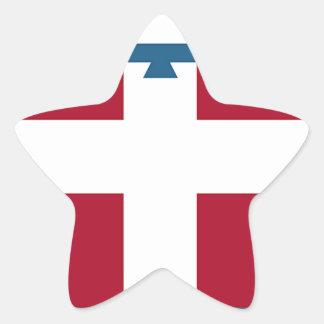Piedmont (Italy) Flag Star Sticker