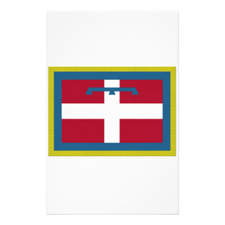 Piedmont (Italy) Flag Personalized Stationery