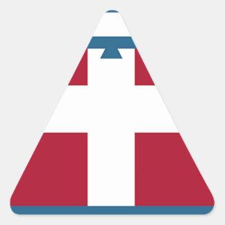 Piedmont (Italy) Flag Triangle Sticker
