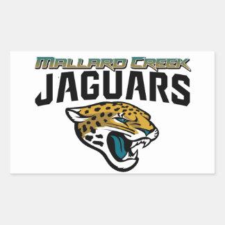 Piedmont Youth Football Mallard Creek Jaguars Rectangular Sticker