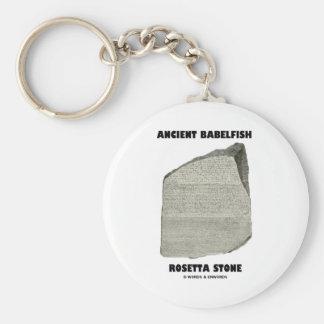 Piedra antigua de Babelfish Rosetta (comunicación) Llaveros Personalizados