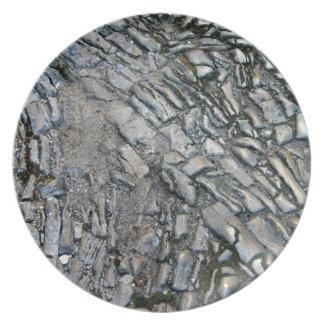 Piedra antigua plato de comida