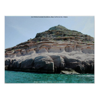 Piedra arenisca esculpida Partida Baja California Poster