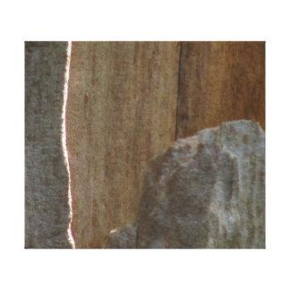 Piedra arenisca lienzo envuelto para galerias