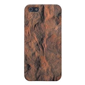 Piedra arenisca roja iPhone 5 carcasas