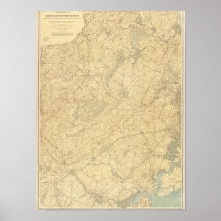 Piedra arenisca roja, New Jersey 2 Póster