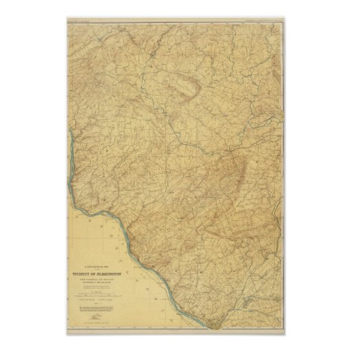 Piedra arenisca roja, New Jersey Póster