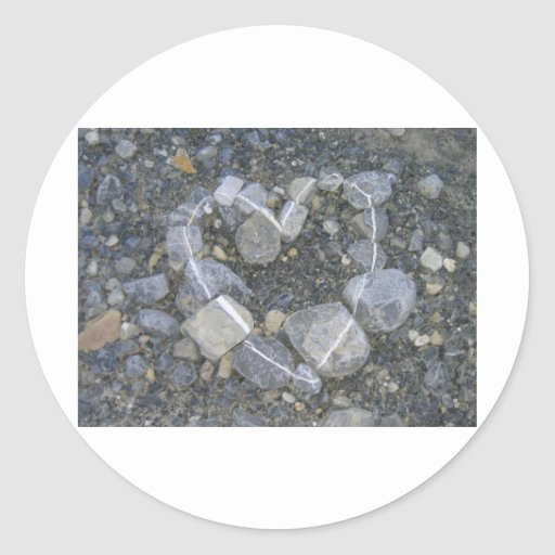 piedra-arte pegatinas redondas