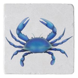Piedra atlántica Trivet del cangrejo azul Salvamanteles