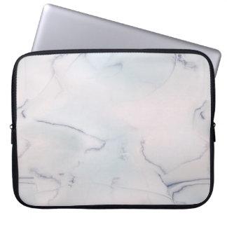 Piedra azul blanca de mármol del ópalo funda computadora