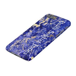 Piedra azul - con monograma funda barely there iPhone 6