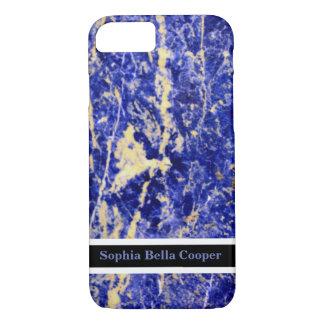 Piedra azul - con monograma funda iPhone 7