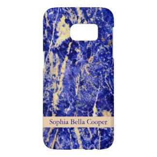 Piedra azul - con monograma funda samsung galaxy s7