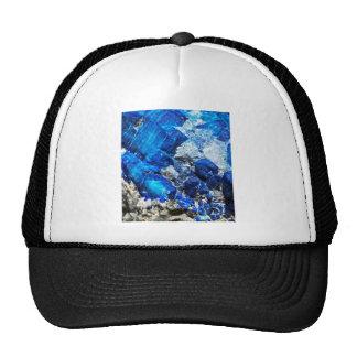Piedra azul del mineral de Geode de la aguamarina Gorro