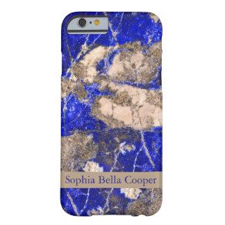 Piedra azul moderna - con monograma funda barely there iPhone 6
