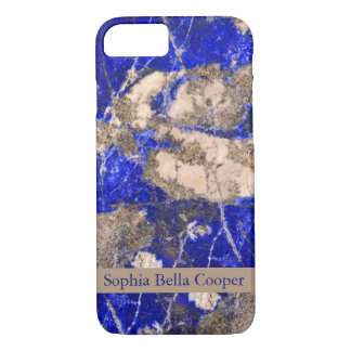 Piedra azul moderna - con monograma funda iPhone 7