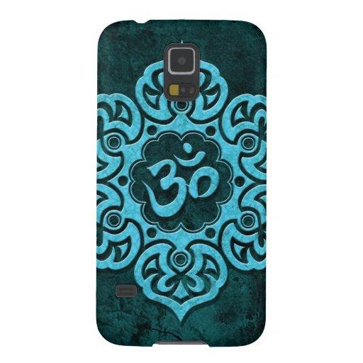 Piedra azul OM floral Fundas Para Galaxy S5