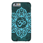 Piedra azul OM floral Funda De iPhone 6 Barely There