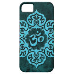 Piedra azul OM floral iPhone 5 Case-Mate Cárcasa