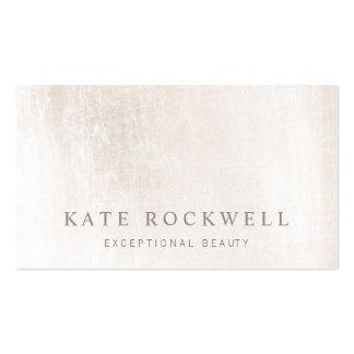 Piedra blanca de marfil minimalista elegante tarjetas de visita