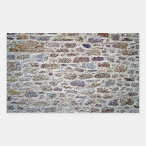 Piedra con textura de la pared del cemento pegatina rectangular