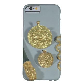 Piedra de afilar y anillos con la decoración funda de iPhone 6 slim
