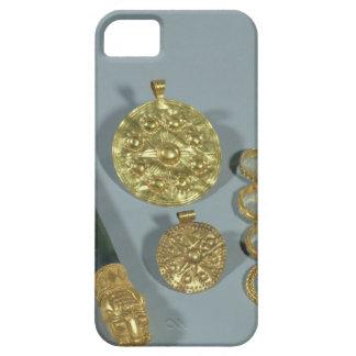 Piedra de afilar y anillos con la decoración granu iPhone 5 Case-Mate cárcasa