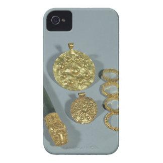 Piedra de afilar y anillos con la decoración granu Case-Mate iPhone 4 carcasa