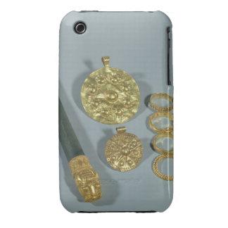 Piedra de afilar y anillos con la decoración granu iPhone 3 Case-Mate carcasas