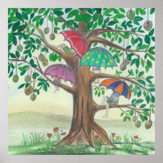 Piedra de ART_Susie del poster del árbol de mango