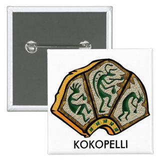 Piedra de Kokopelli Pin Cuadrado