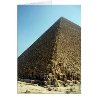 piedra de la pirámide tarjeta de felicitación