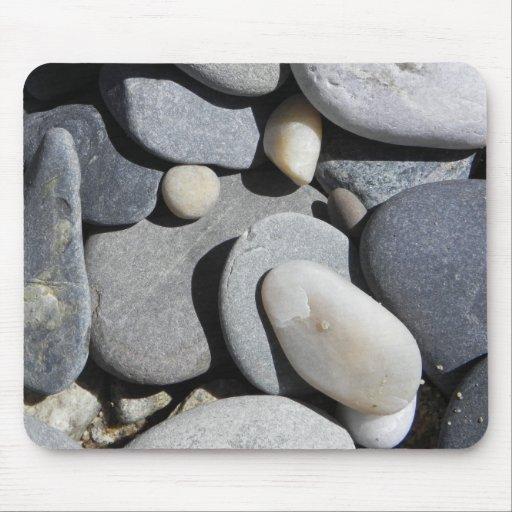 piedra de la playa alfombrillas de ratón