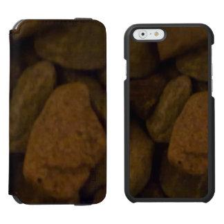 Piedra de la sauna funda billetera para iPhone 6 watson