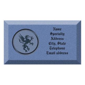 Piedra de la tarjeta de visita con el grifo mitoló