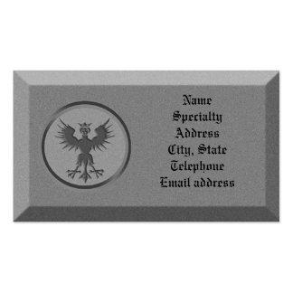 Piedra de la tarjeta de visita con símbolo mitológ
