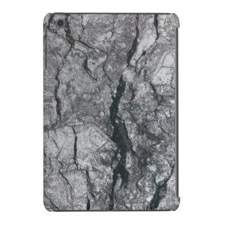 piedra de mármol de marfil rayada del ébano fundas de iPad mini retina