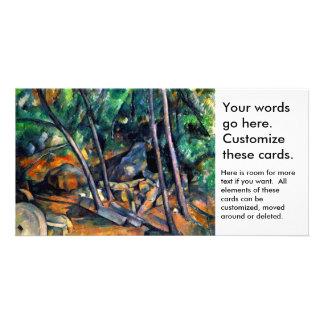 Piedra de molino en el parque por el arte colorido tarjeta fotográfica personalizada