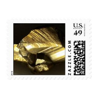 Piedra de oro del mineral de la pepita de los sellos postales
