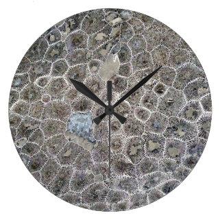 ¡Piedra de Petoskey, Michigan puro! Reloj Redondo Grande