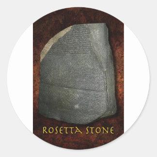 Piedra de Rosetta Pegatina Redonda
