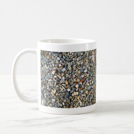 Piedra decorativa de los guijarros, textura de la  tazas
