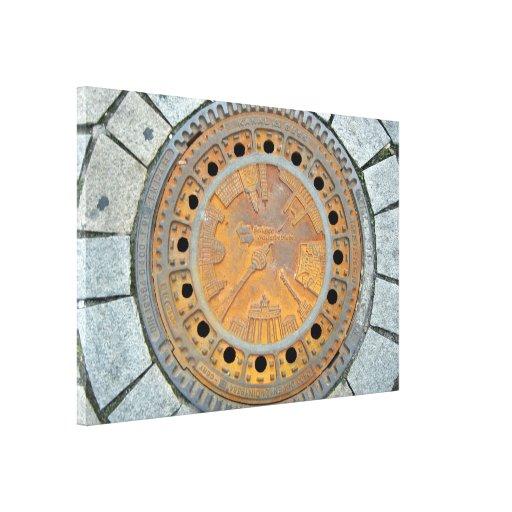 Piedra decorativa lona envuelta para galerías