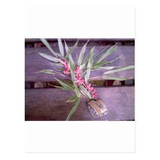 Piedra del bambú y del jaspe postal