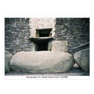 Piedra del bordillo espiral de los símbolos, tarjeta postal