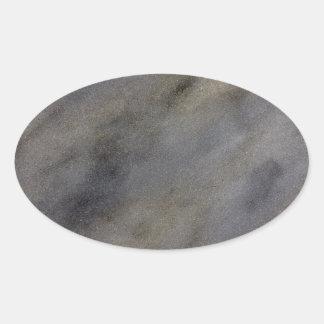 Piedra del leopardo de Jackel -- Piedra resistida Pegatina Ovalada