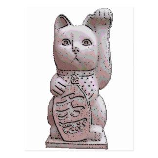 piedra del neko del maneki postal